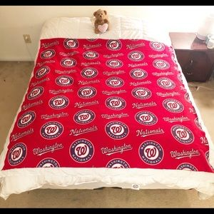 Homemade Nats Warm Fleece Blankets